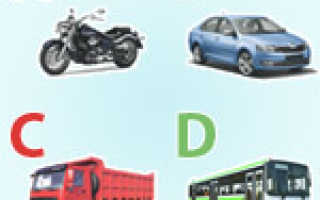 Какие бывают категории прав: типы авто и категорий