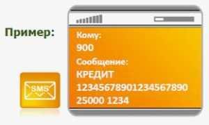 Оплата сервиса с кредитной карты через мобильный банк