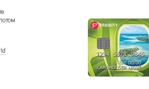 Бонусная карта S7 PRIORITY Альфа Банк