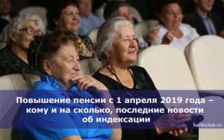 Повышение пенсии с 1 апреля 2020 г.: кому и на сколько процентов